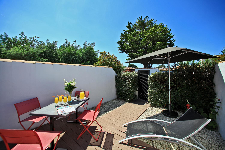 jardin terrasse location piscine spa noirmoutier
